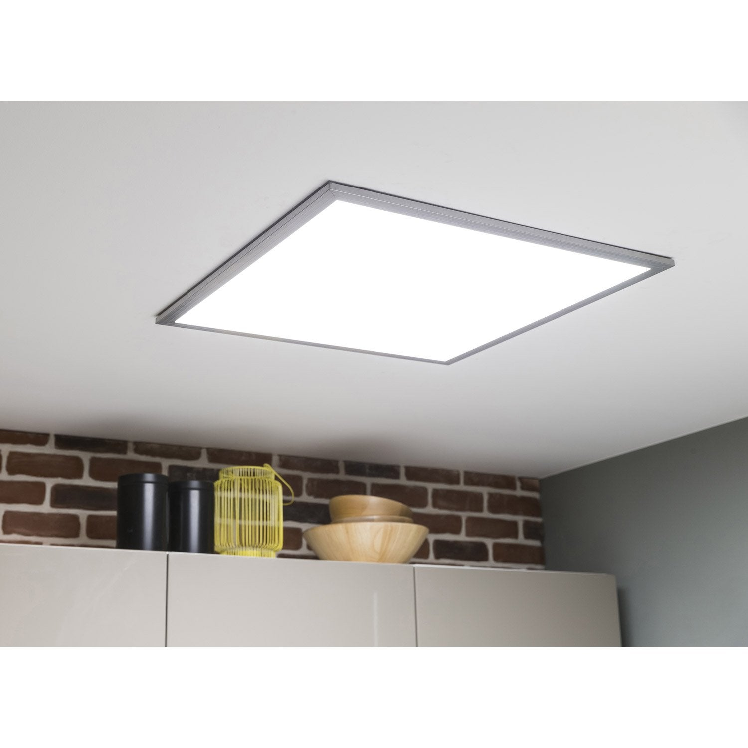 panneau led led 1 x 36 w led integree leroy merlin With carrelage adhesif salle de bain avec downlight philips led