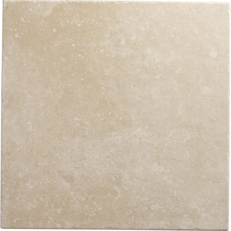 Carrelage sol et mur beige ros effet pierre perigueux l for Carrelage sol 20x20 beige