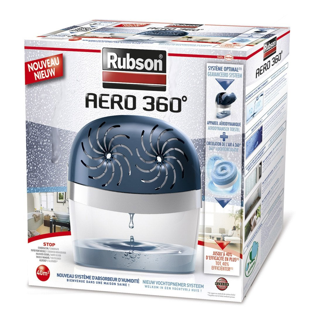 Absorbeur d 39 humidit une recharge a ro 360 rubson 40 m - Absorbeur d humidite maison ...