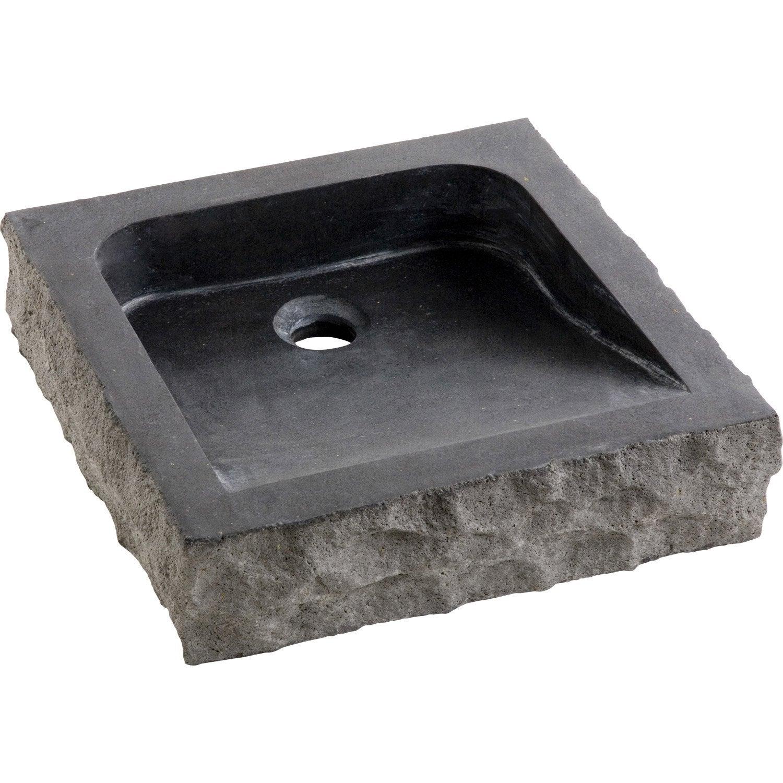 Vasque poser basalte x cm gris anthracite horizon leroy merlin - Leroy merlin vasque a poser ...