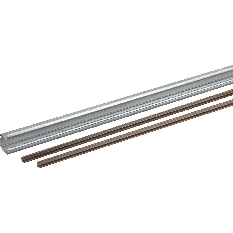 Profil en acier et plastique pour portes coulissantes - Porte suspendue leroy merlin ...