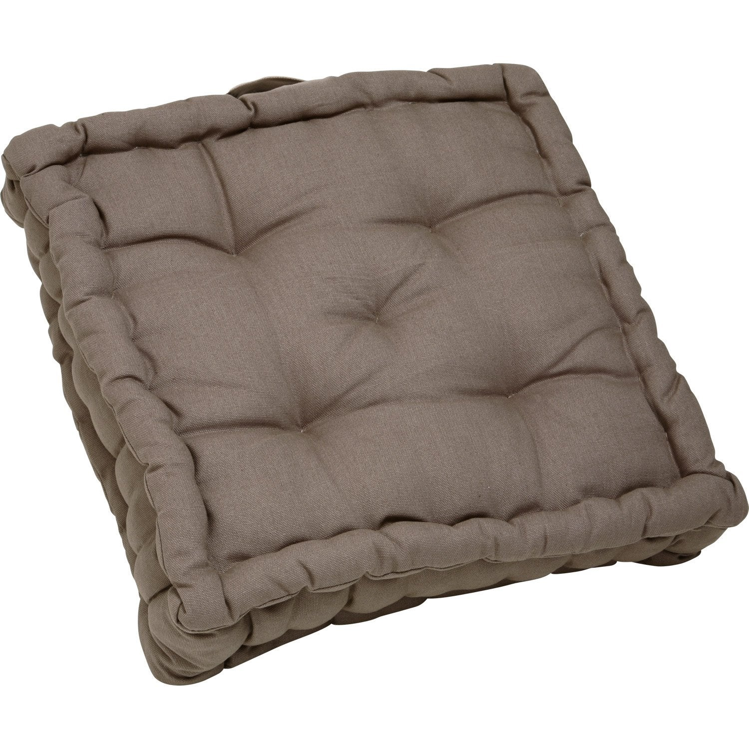 coussin de sol cl a inspire brun taupe n 3 x x cm leroy merlin. Black Bedroom Furniture Sets. Home Design Ideas