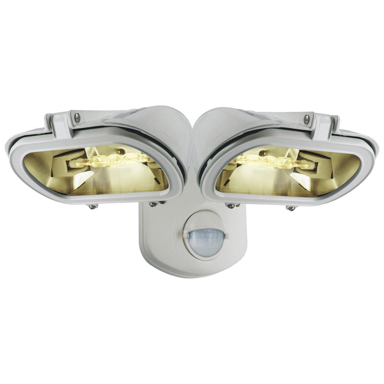 projecteur 224 fixer 224 d 233 tection ext 233 rieur r7s 78 mm blanc leroy merlin