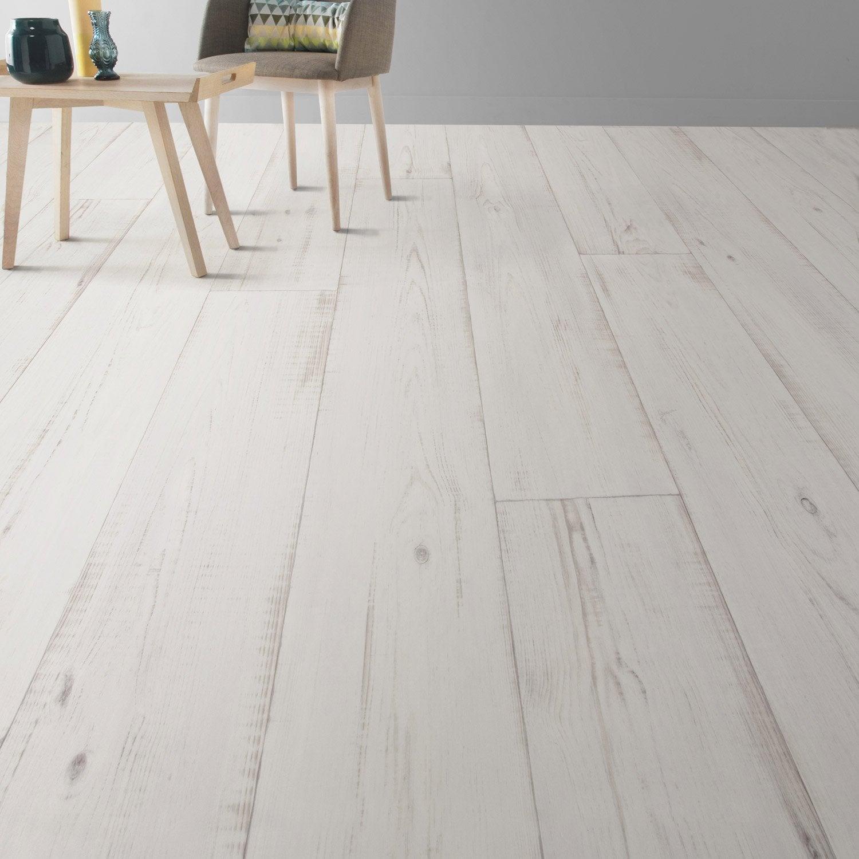 Sol pvc keywest blanc artens textile l 4 m leroy merlin - Leroy merlin revetement sol pvc ...