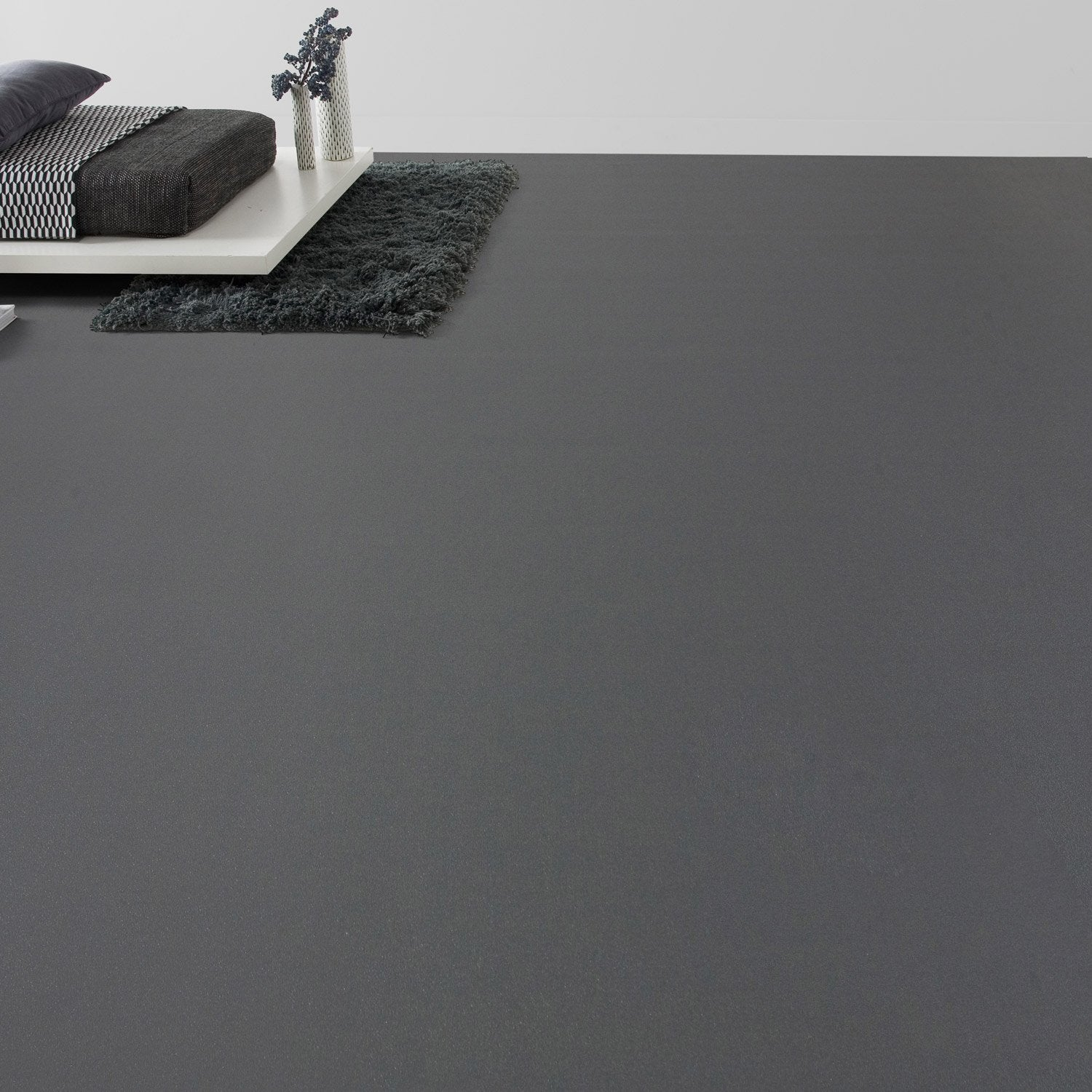 Sol pvc anthracite gris zingu aero l 4 m leroy merlin for Portillon pvc gris anthracite