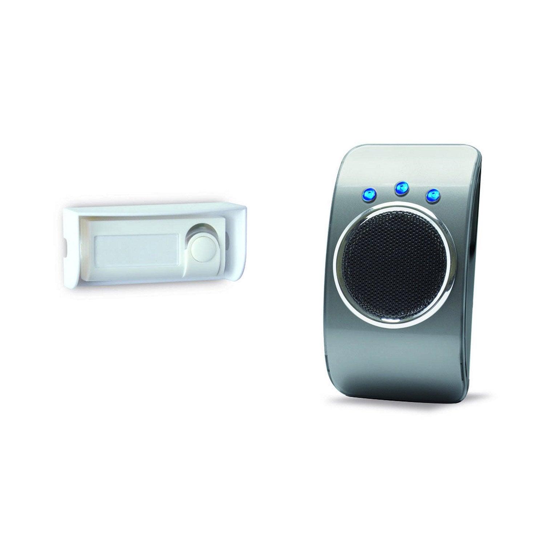 Carillon sans fil flash vibreur extel looflash noir et - Sonnette sans fil castorama ...