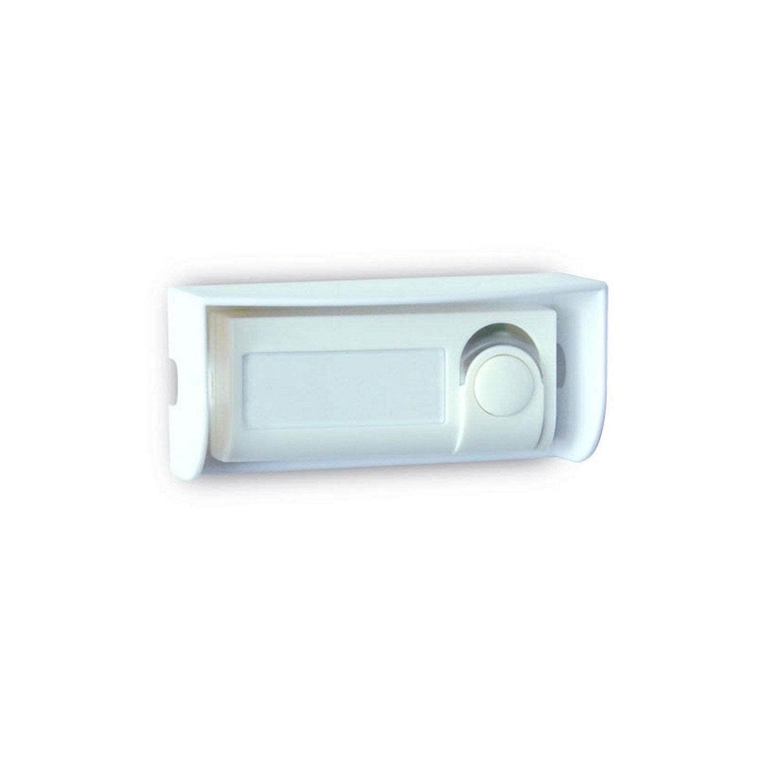 Bouton de sonnette filaire evology 000302 blanc leroy merlin - Installer une sonnette ...