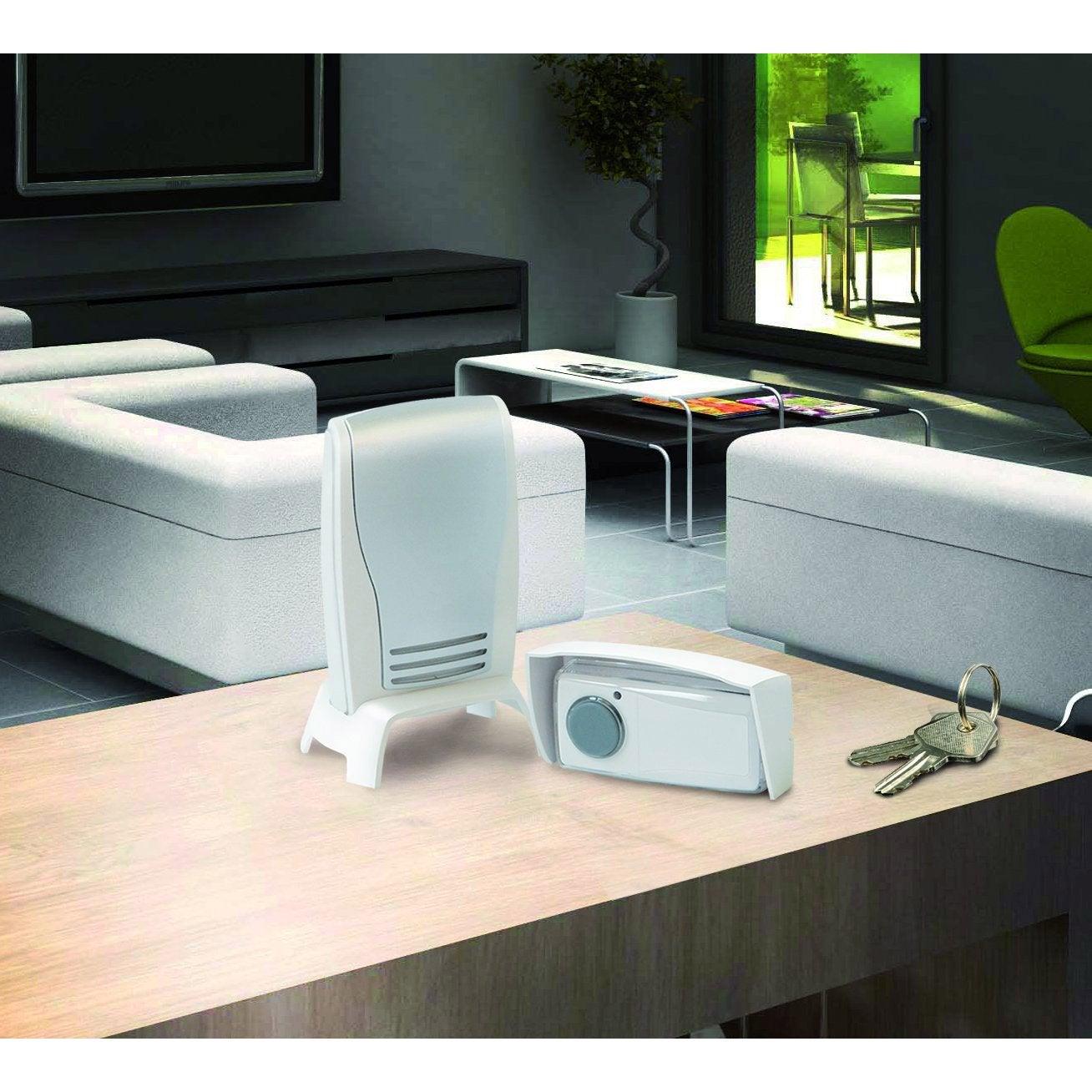 carillon sans fil scs sentinel urm 82 blanc leroy merlin. Black Bedroom Furniture Sets. Home Design Ideas