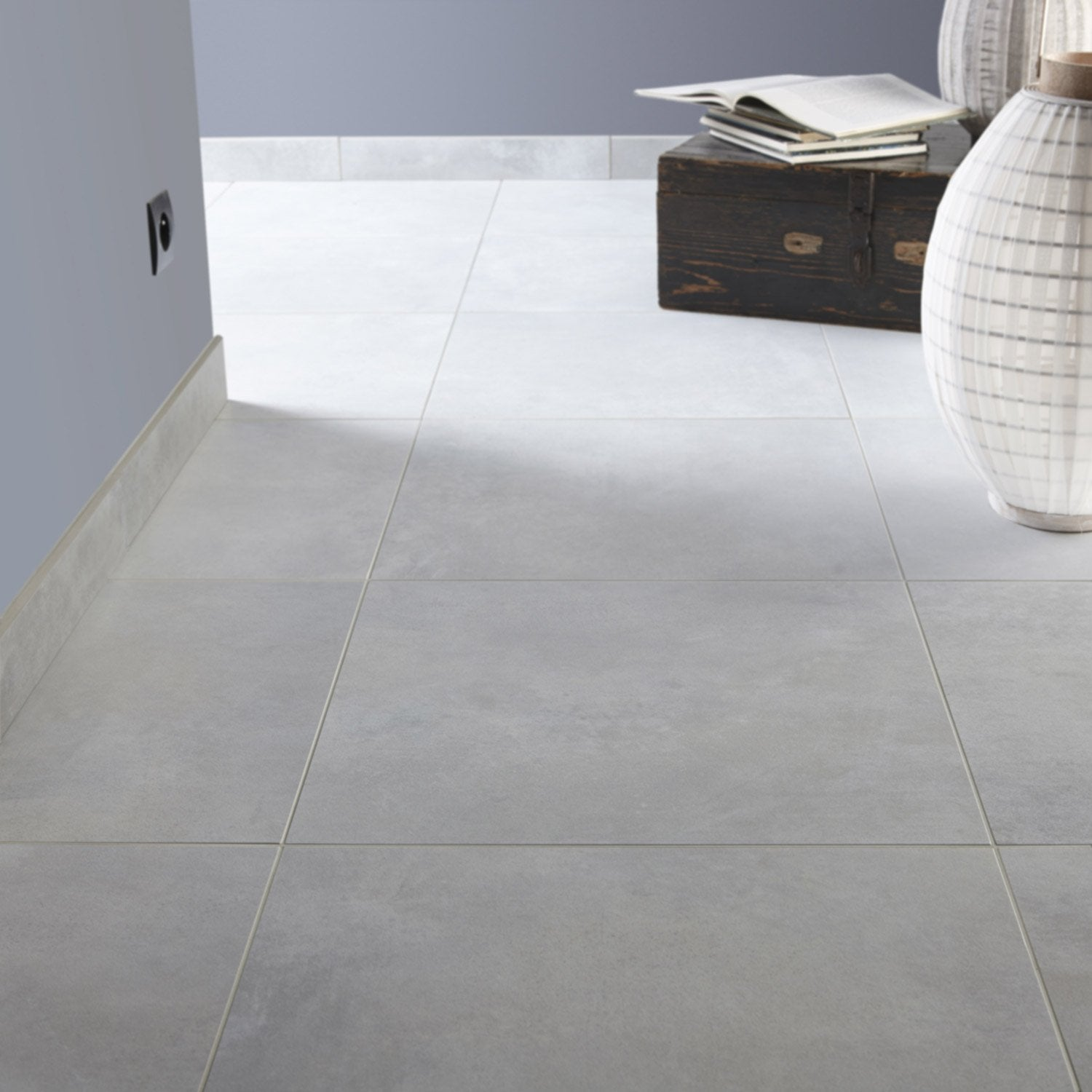 Carrelage 50x50 gris clair for Carrelage sol gris