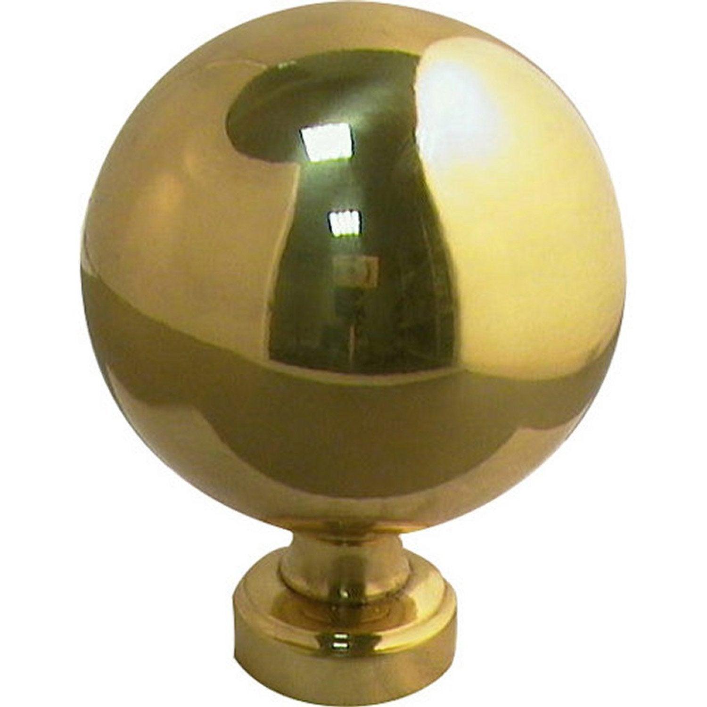 Boule de rampe boule laiton et laiton poli leroy merlin - Boule lumineuse exterieur leroy merlin ...