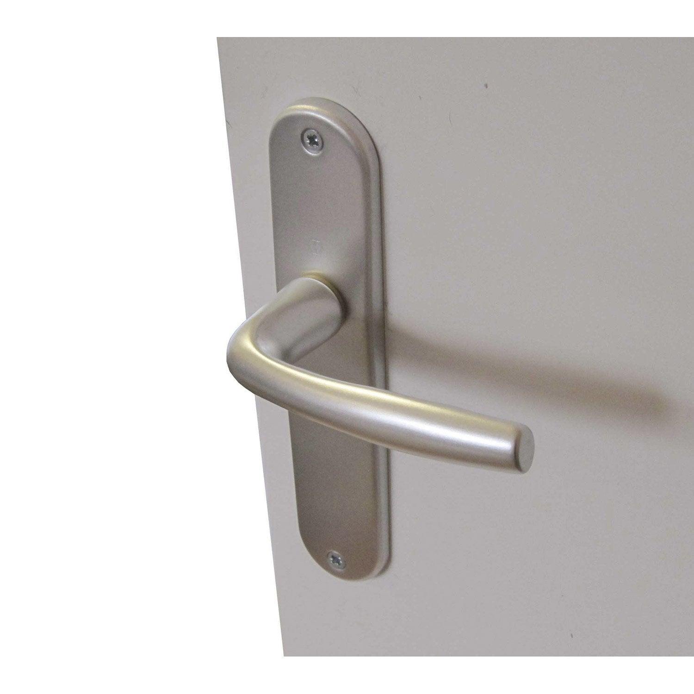 Poign es de porte roissy 38mm sans trou en aluminium - Poignee de porte leroy merlin ...