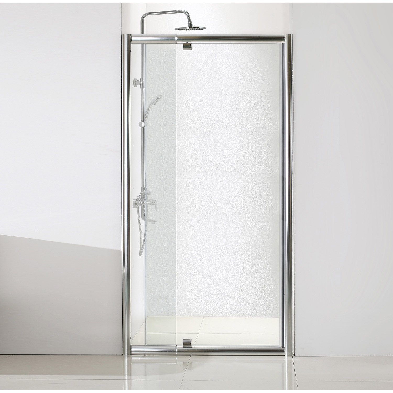 porte de douche pivotante 120 cm transparent quad leroy merlin. Black Bedroom Furniture Sets. Home Design Ideas