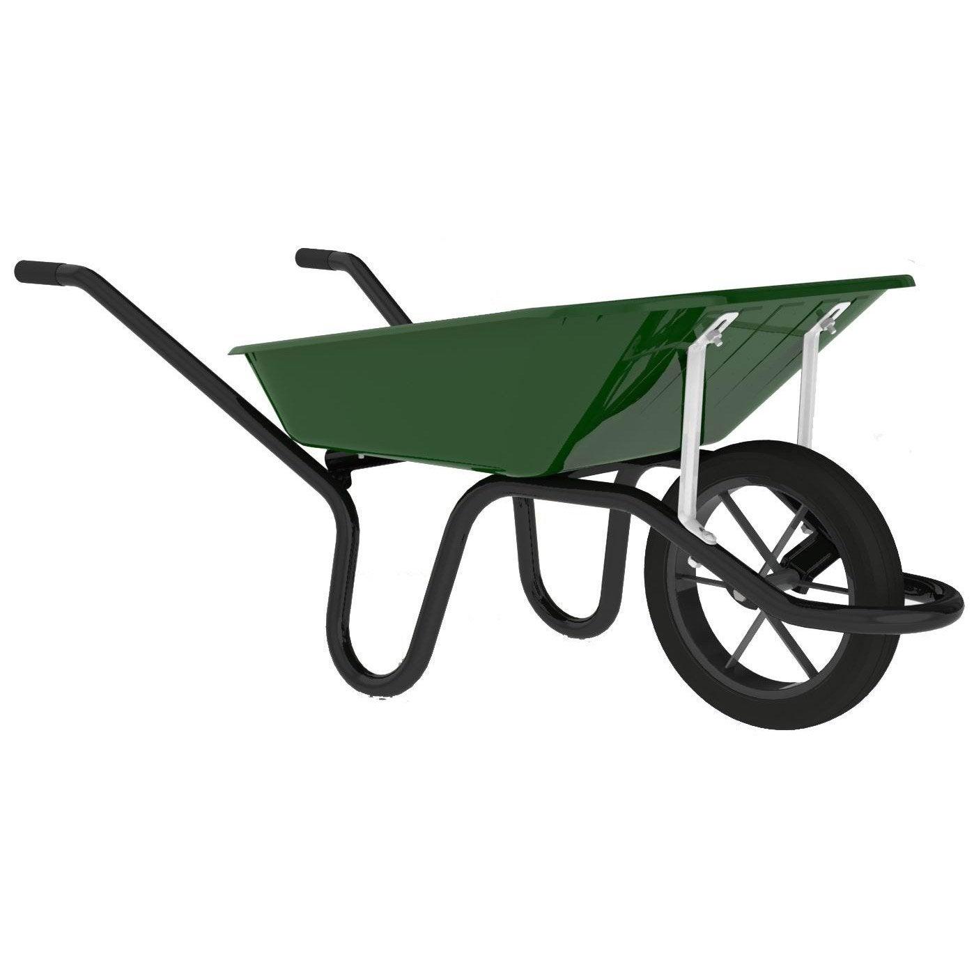 brouette 1 roue une en acier peint haemmerlin 90 l 150 kg leroy merlin. Black Bedroom Furniture Sets. Home Design Ideas