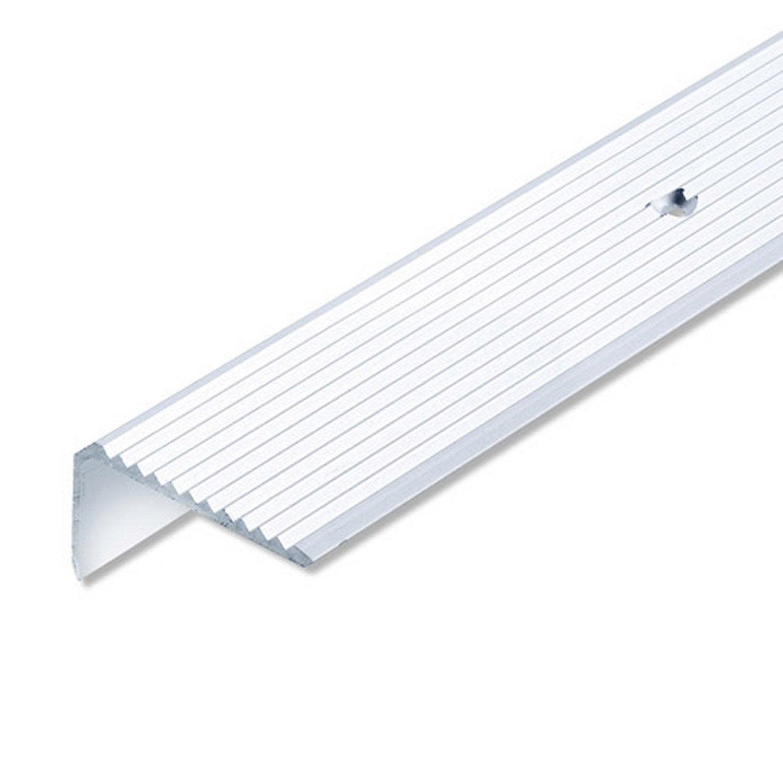 Nez de marche aluminium anodis l 1 m x l 4 1 cm x h 2 3 for Nez de marche exterieur