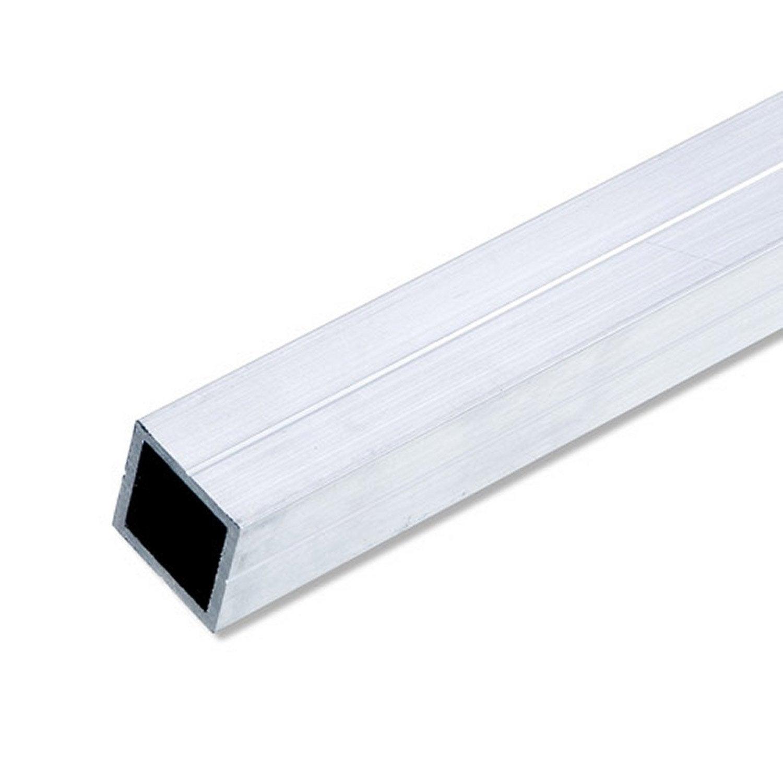 Tube carr aluminium brut l 2 5 m x l cm x h cm leroy merlin - Tube carre acier brico depot ...