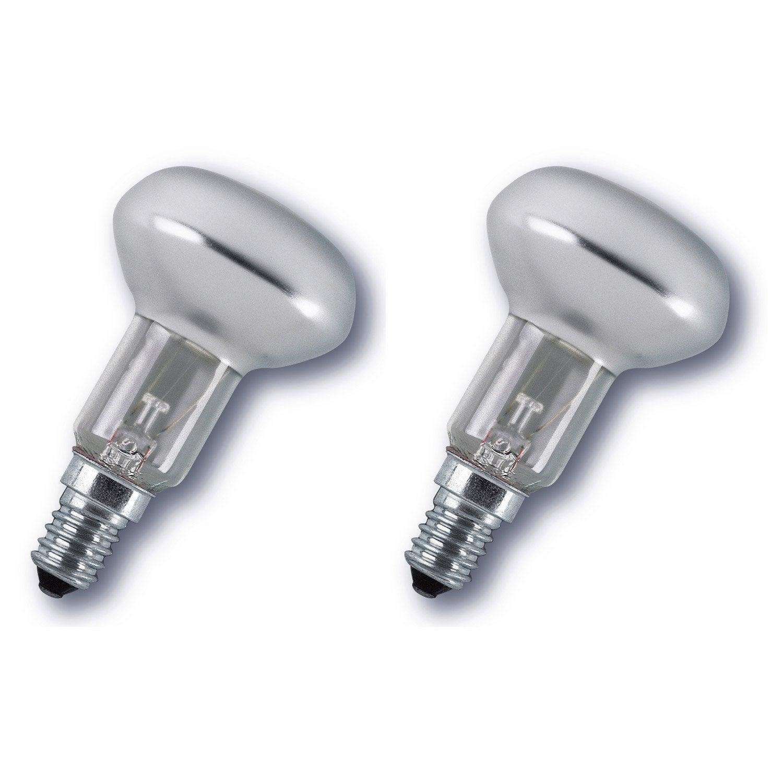 Lot de 2 ampoules reflecteurs incandescentes 40w osram e - Ampoule lumiere du jour leroy merlin ...