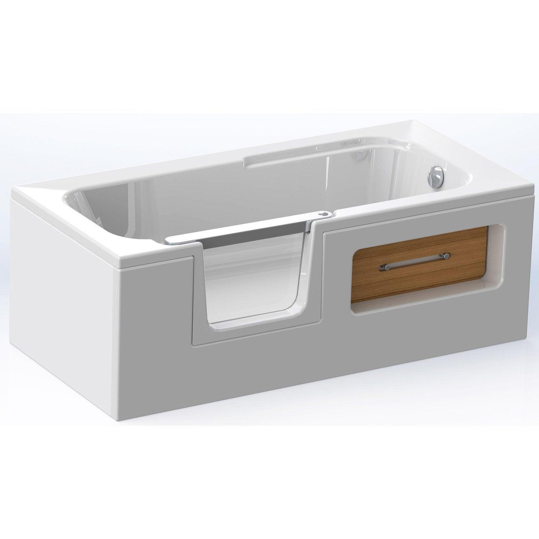 Tablier de baignoire rectangulaire twineo acrylique 80x43cm leroy merlin - Baignoire acrylique leroy merlin ...