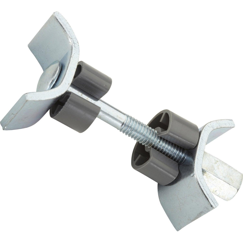 Raccord de plan de travail en acier zingu 65mm leroy - Plan de travail inox leroy merlin ...