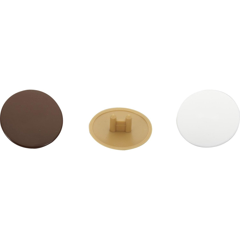 lot de 24 cache vis plastique brut hettich leroy merlin. Black Bedroom Furniture Sets. Home Design Ideas