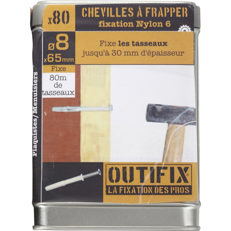 lot de 80 chevilles clouer frapex m outifix diam 8 x mm leroy merlin. Black Bedroom Furniture Sets. Home Design Ideas
