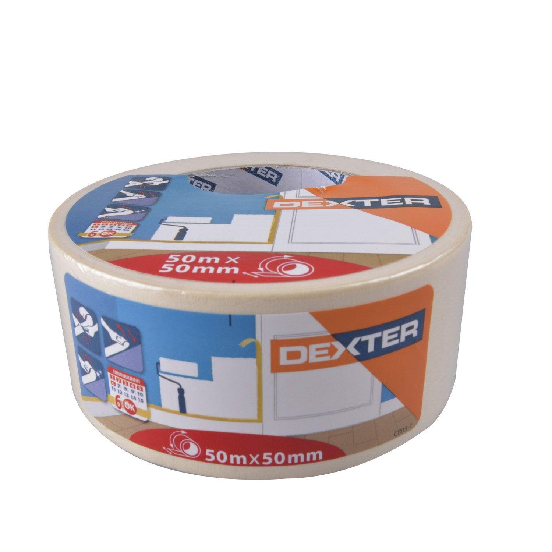 adhesif-dexter-masquage-une-face-surfaces-lisses-l-50-m-x-l-50-mm-beige Meilleur De De Rallonge De Table Synonyme Schème