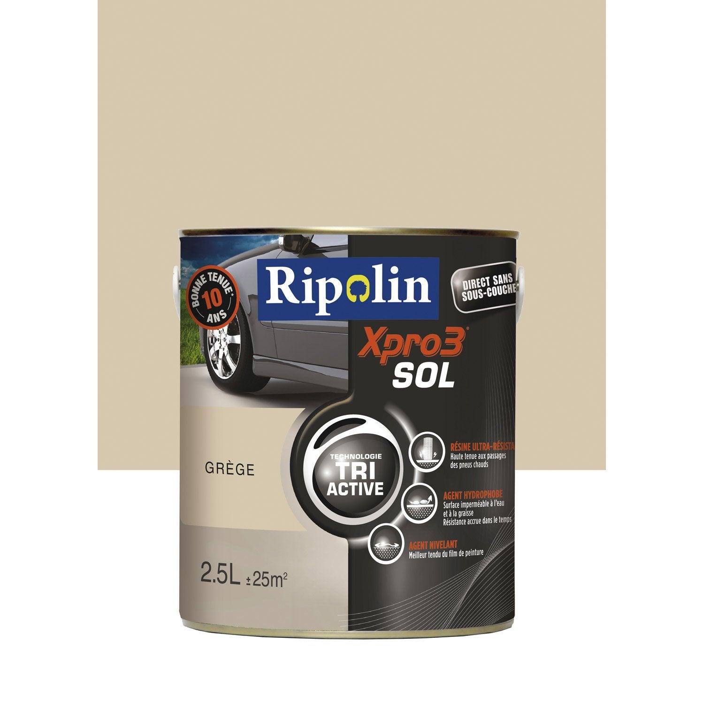 Peinture sol ext rieur int rieur xpro 3 ripolin gris gr ge 2 5 l leroy - Sol exterieur leroy merlin ...