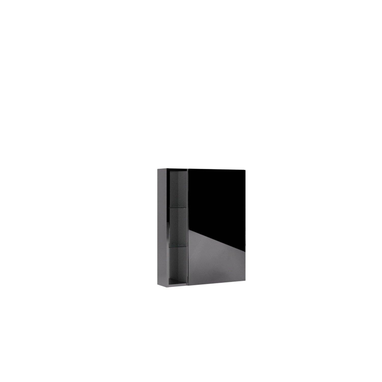 Armoire de toilette l.60 cm, imitation métal, Remix | Leroy Merlin