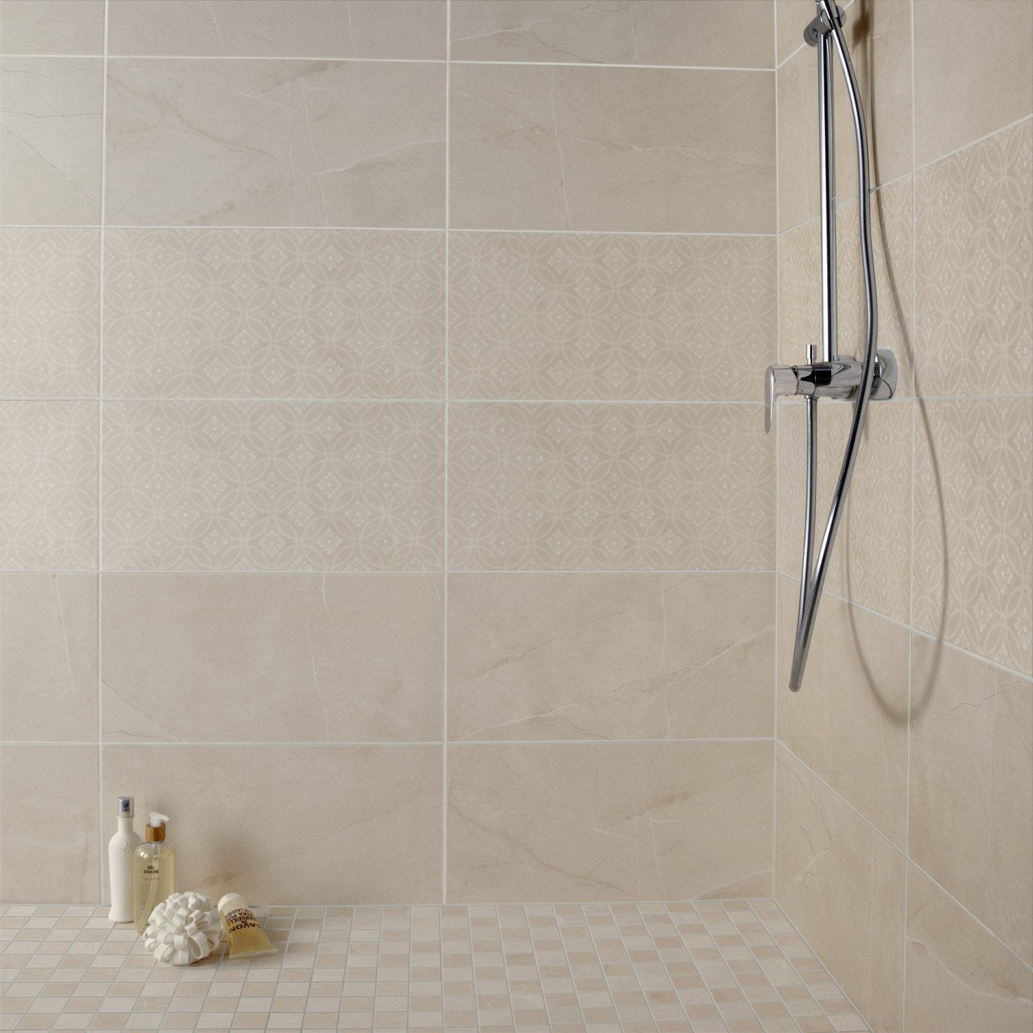 Fa ence mur beige colys e x cm leroy merlin for Carreaux faience