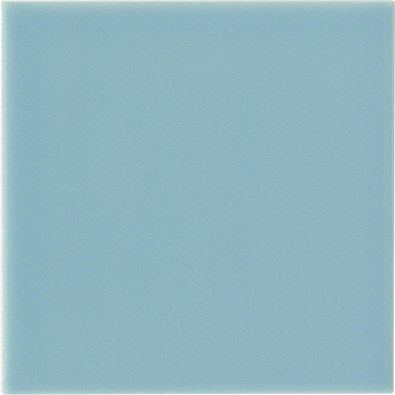 Fa ence mur bleu atoll n 5 astuce x cm leroy for Carrelage mural 15x15