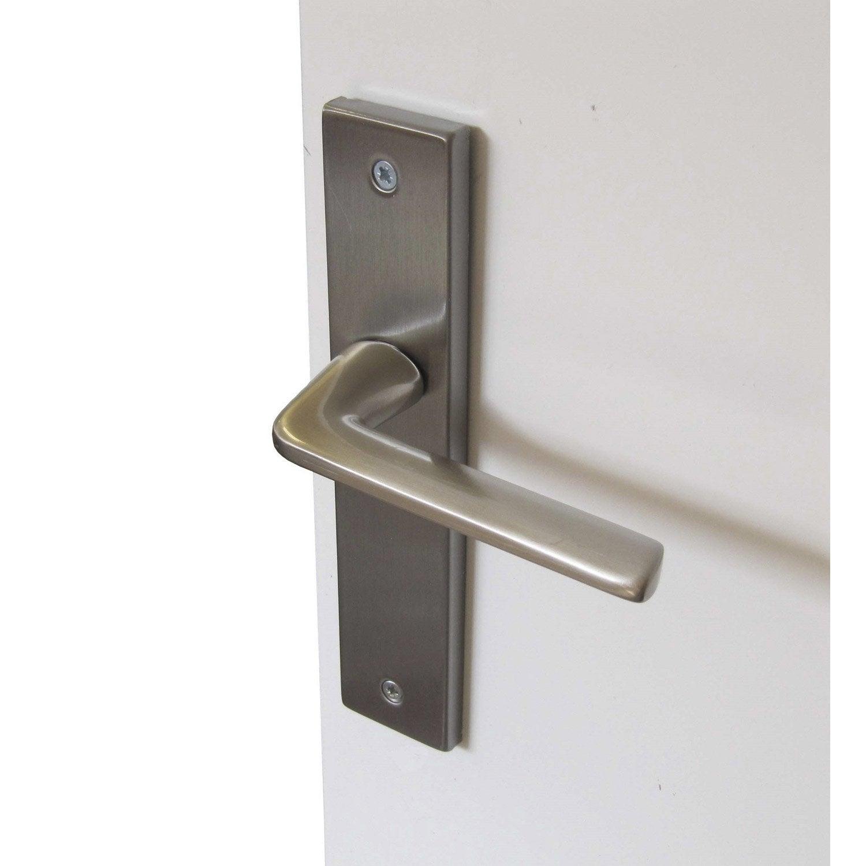 2 poign 233 es de porte square sans trou inspire acier inoxydable 195 mm leroy merlin