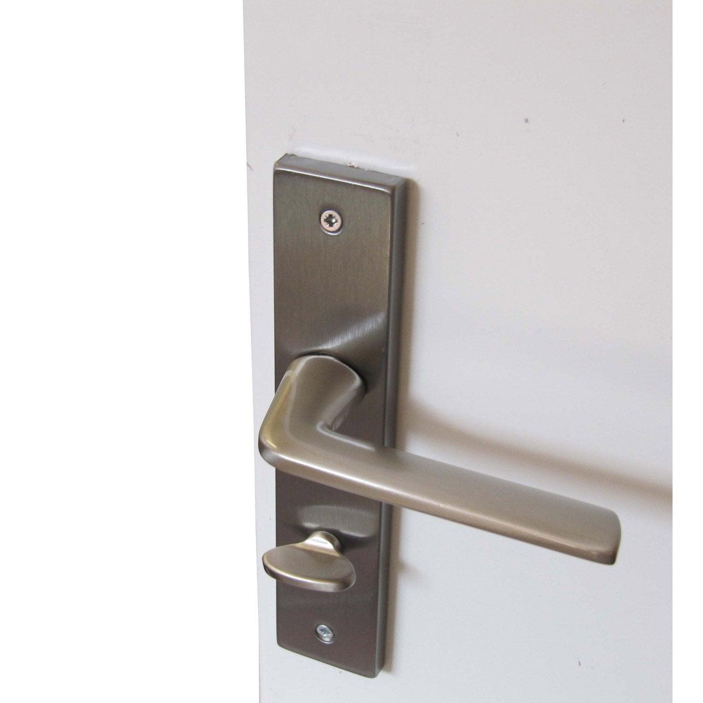 poignet de porte leroy merlin kit de poignes porte coulissante ronde zamak nickel gris with. Black Bedroom Furniture Sets. Home Design Ideas