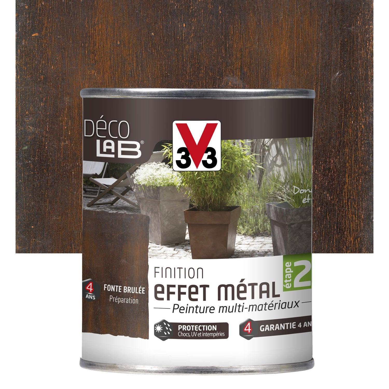 Peinture de finition effet m tal ext rieur d co v33 fonte for Peinture meuble effet metal