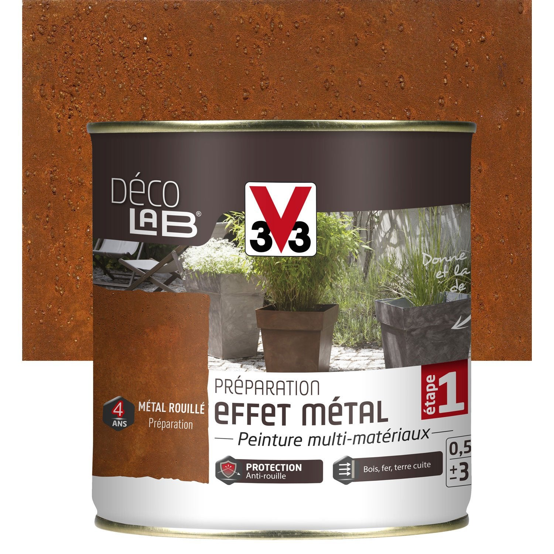 Preparation effet metal exterieur deco v33 metal rouille for Decoration pour jardin exterieur 5 cuisine quartz noir
