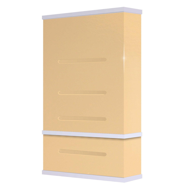 chauffe eau lectrique horizontal ou vertical waterslim wts 100 creme 100 l leroy merlin. Black Bedroom Furniture Sets. Home Design Ideas