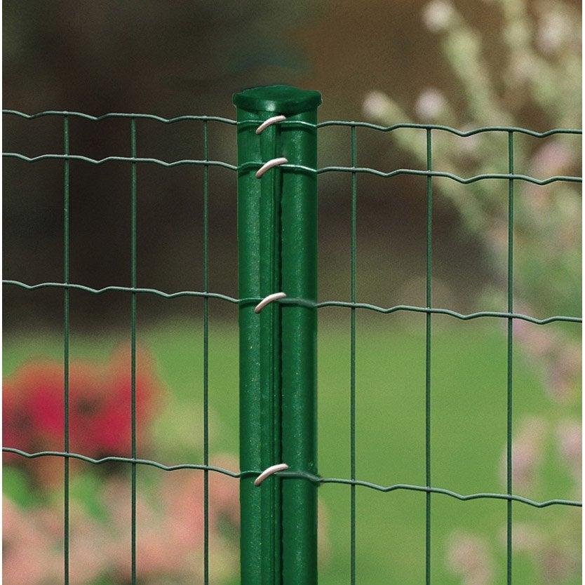 poteau rond bekaclip vert x l 4 8 cm leroy merlin. Black Bedroom Furniture Sets. Home Design Ideas