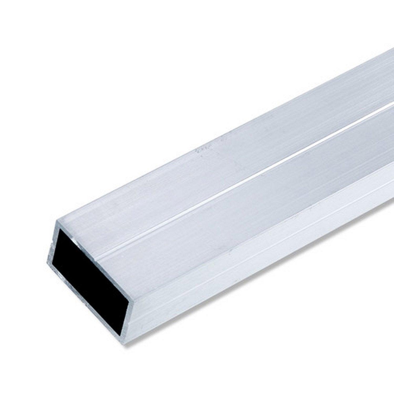 Tube rectangulaire rainur en aluminium brut l1m x x x p0 1 - Plat aluminium leroy merlin ...