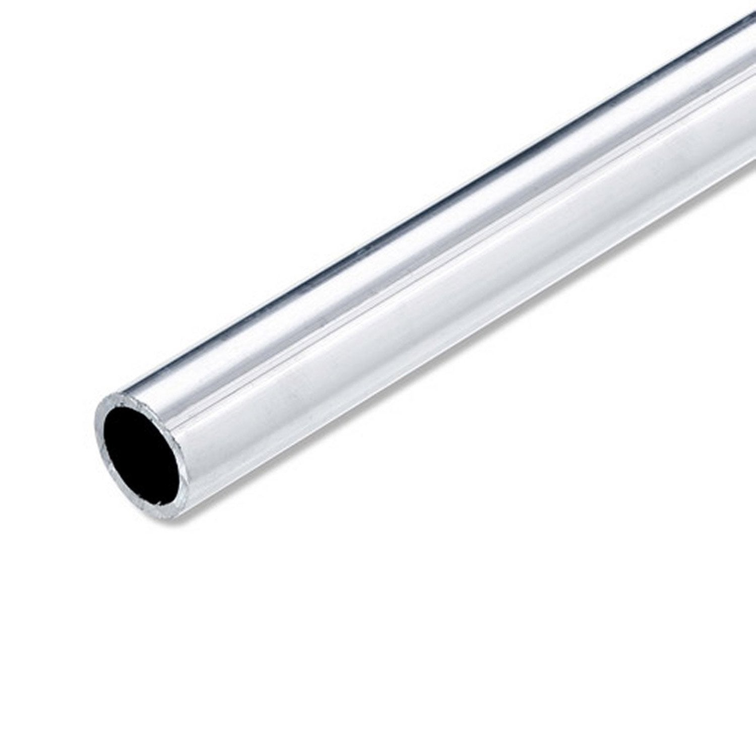Tube rond aluminium brut l 2 5 m x mm leroy for Tube pvc 100 diametre interieur