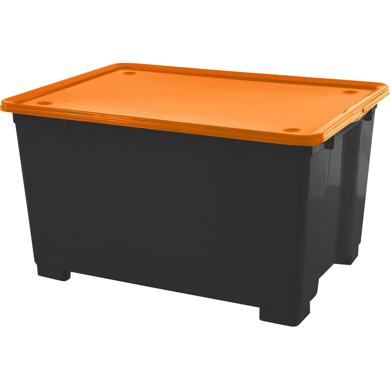 Bac de rangement en plastique cbox m ga h 45 x l 78 x p for Bac a plante leroy merlin