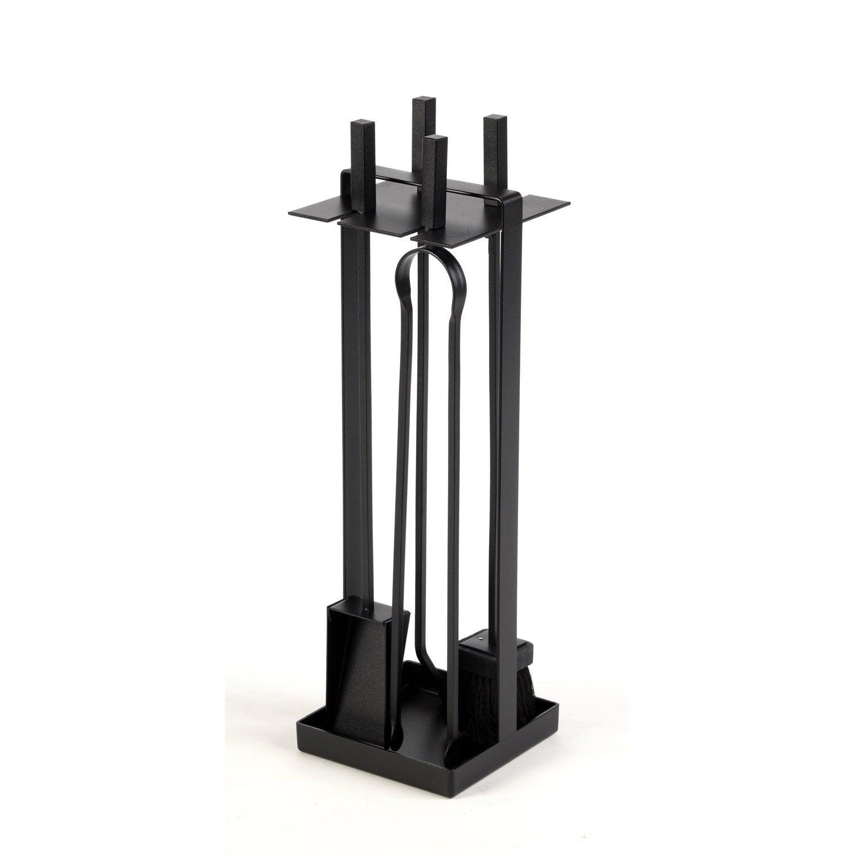 serviteur en acier atelier dix neuf abrik noir 4 accessoires leroy merlin. Black Bedroom Furniture Sets. Home Design Ideas