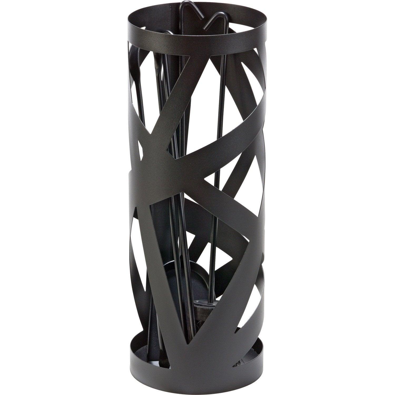 serviteur en acier atelier dix neuf papyrus noir 4 accessoires leroy merlin. Black Bedroom Furniture Sets. Home Design Ideas