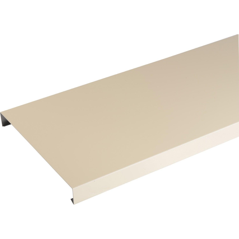 Couvertine aluminium 30 x 270 scover plus sable l 2 m leroy merlin - Platte aluminium leroy merlin ...