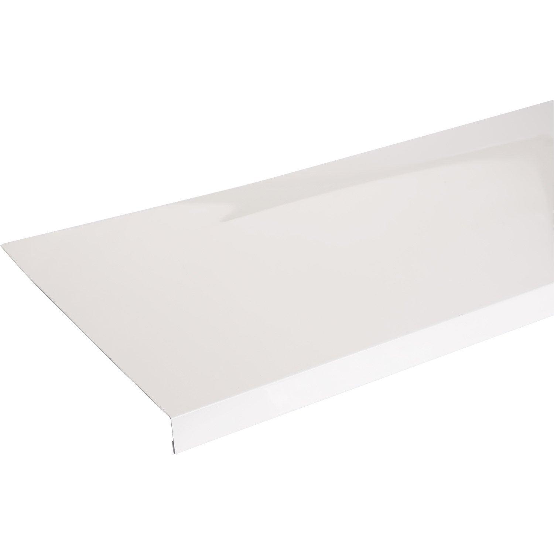 Appui de fen tre aluminium 30 x 250 scover plus blanc l 1 for Peinture appui de fenetre leroy merlin
