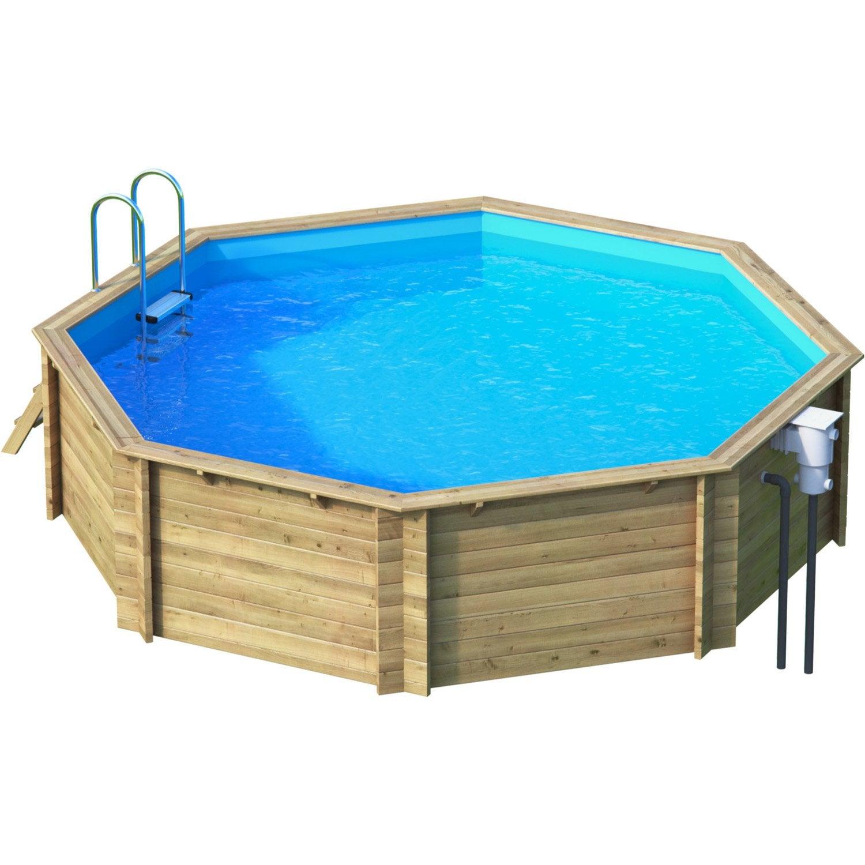 piscine hors sol bois tropic diam l x l x. Black Bedroom Furniture Sets. Home Design Ideas