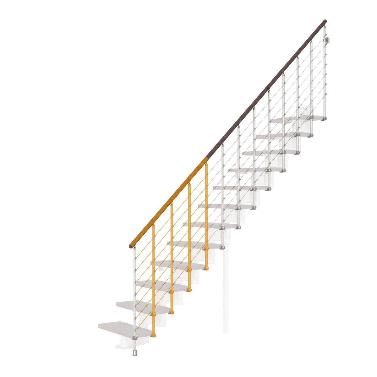 Garde Corp Bois Leroy Merlin : Garde-corps pour escalier Mini Line blanc en bois fonc? PIXIMA