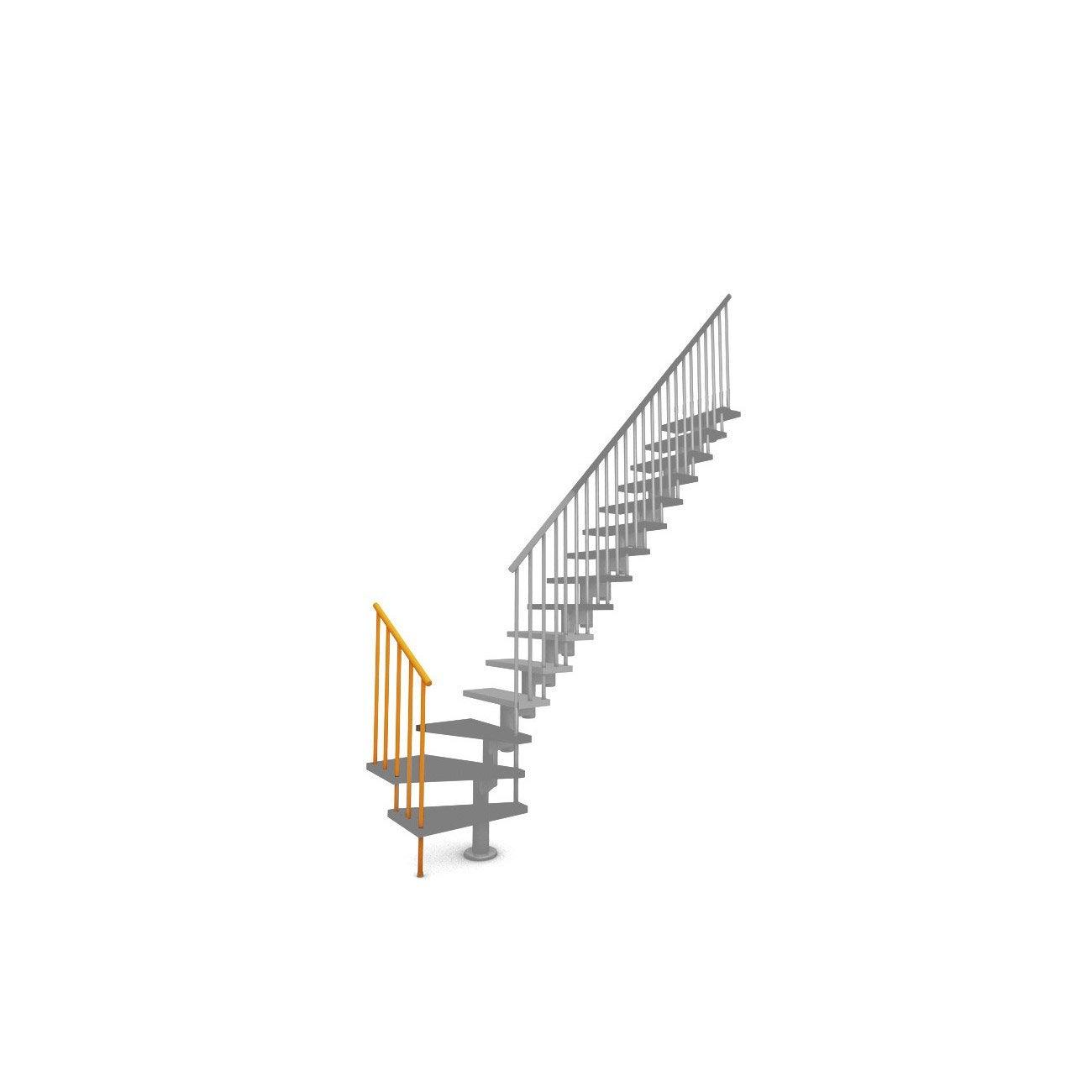 Garde Corp Bois Leroy Merlin : Garde-corps pour escalier Mini Line blanc en bois clair PIXIMA Leroy