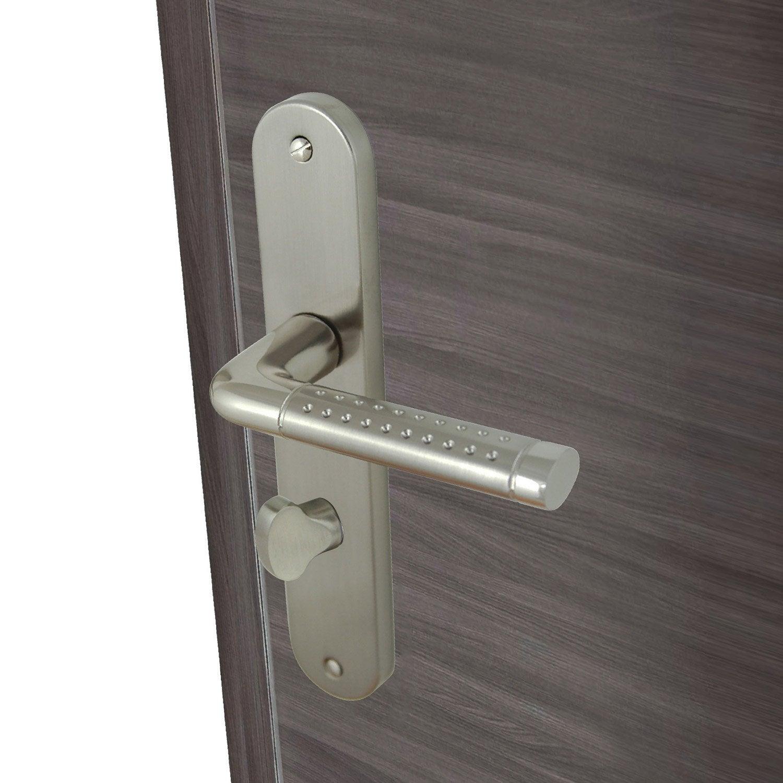 2 poign es de porte tolbiac condamnation d condamnation aluminium mat 195 mm leroy merlin. Black Bedroom Furniture Sets. Home Design Ideas