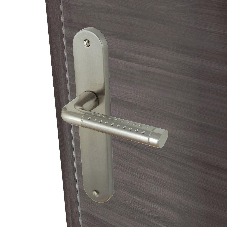 2 poign es de porte tolbiac sans trou inspire aluminium. Black Bedroom Furniture Sets. Home Design Ideas