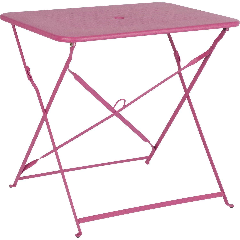 Table de jardin capri rectangulaire rose 2 personnes leroy merlin - Table jardin rose toulon ...
