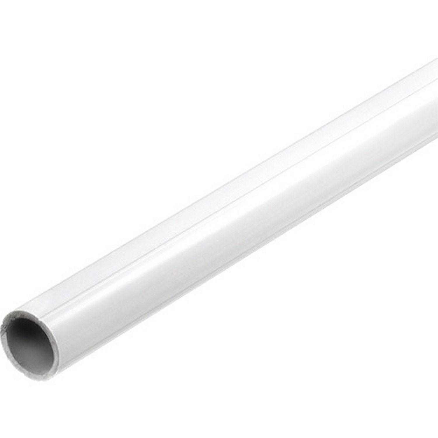 Tube rond rainur en pvc mat l1m x for Tube pvc 100 diametre interieur