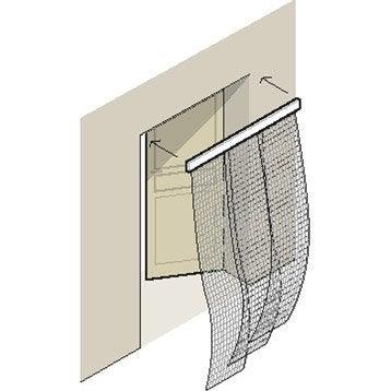 moustiquaire rideau porte moustikit 230x130 cm leroy merlin. Black Bedroom Furniture Sets. Home Design Ideas